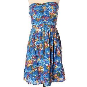 Trafaluc ZARA Flower Strapless 50s style Dress S